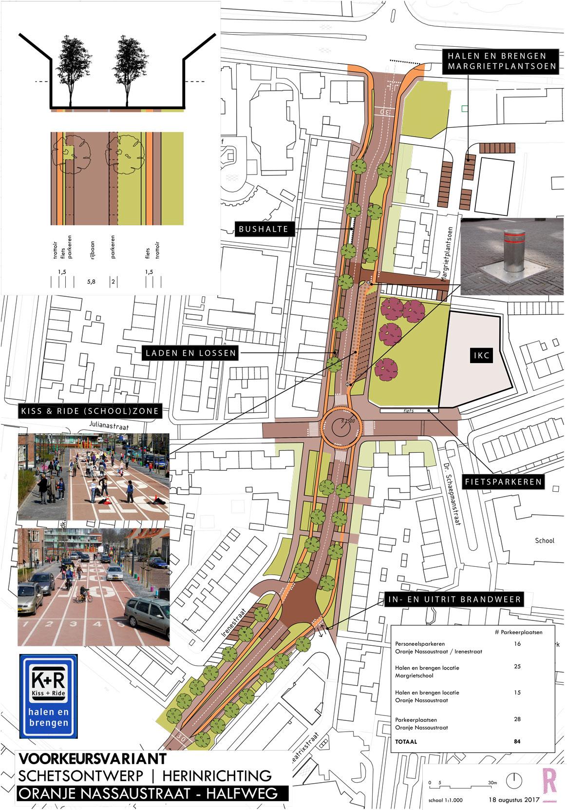 Reconctructie Oranje Nassaustraat Halfweg